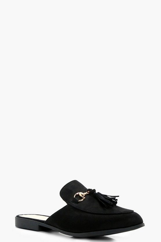 Martha Tassel Trim Mule Loafer