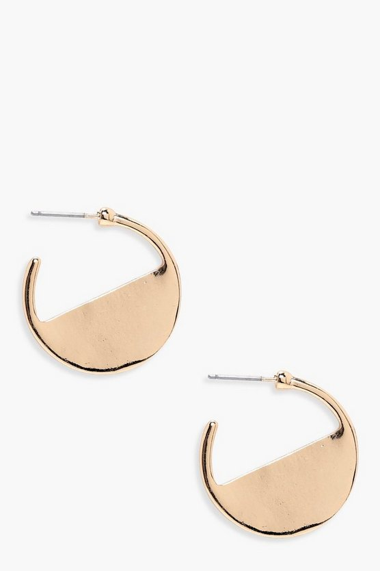 Faye Half Filled Hoop Earrings
