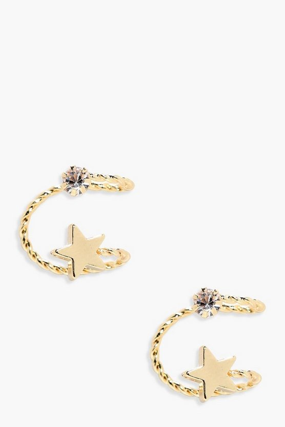 Rachel Star And Diamante Ear Cuff Pair