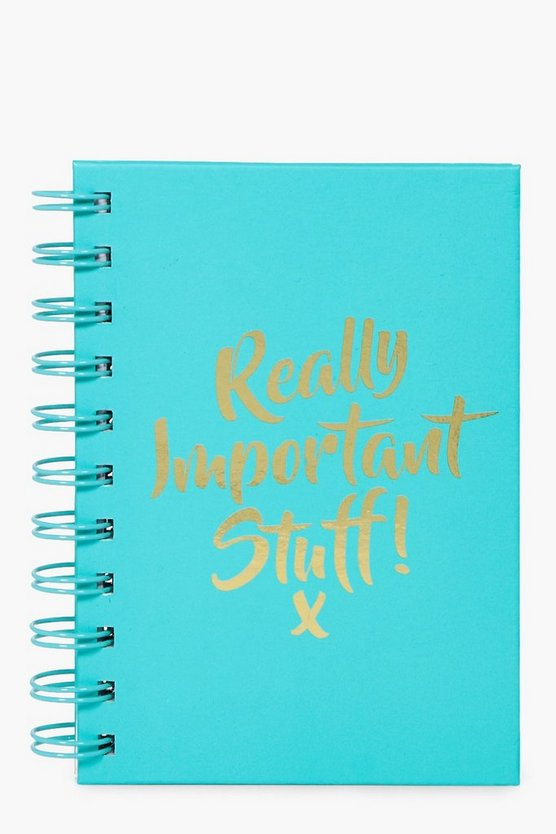 Really Important Stuff Spiral Notebook