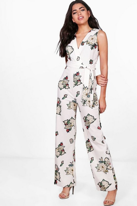 Ruby Wrap Wide Leg Jumpsuit