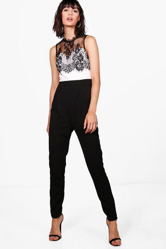 Nevaeh Lace Trim Jumpsuit