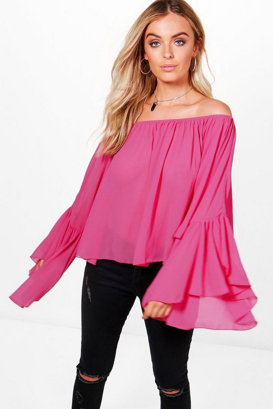 Ella Off The Shoulder Ruffle Top
