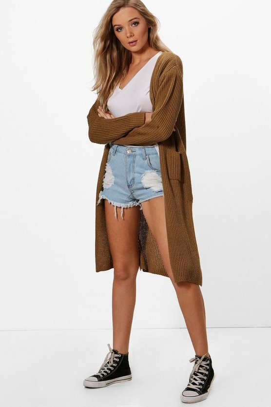 Camilla Side Split Maxi Cardigan