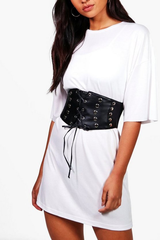 Hannah Stud Detailing Lace Up Corset Belt