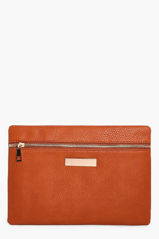 Lily Zip Front Clutch Bag