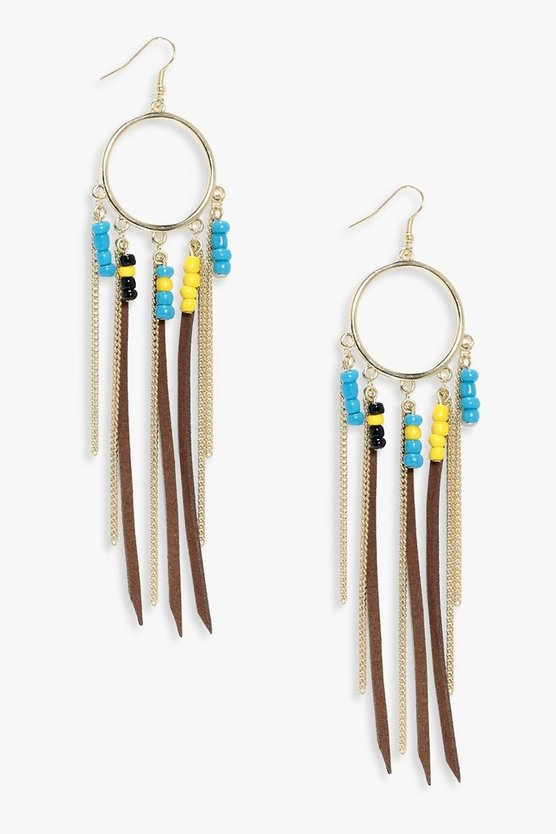 Lexi Chain & Suedette Circle Earrings