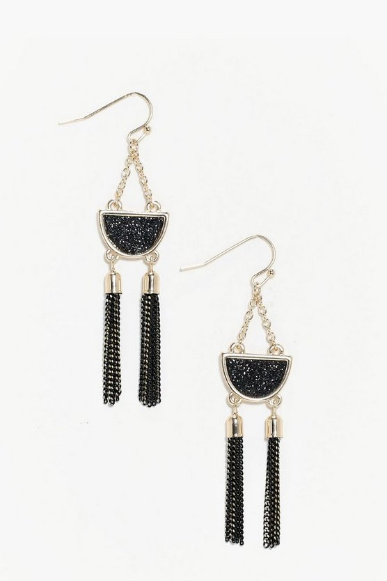 Erin Black Detail Earrings