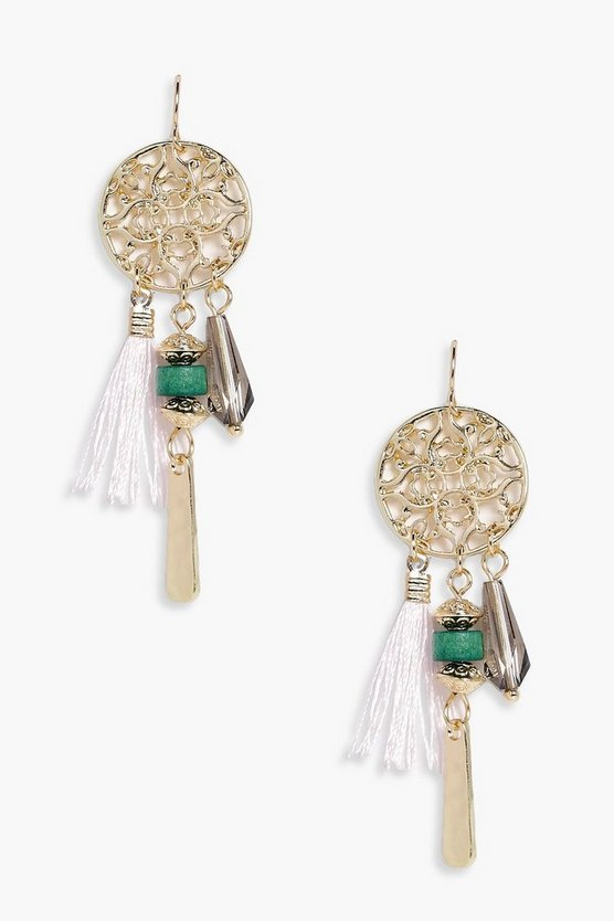 Layla Tassel Dreamcatcher Earrings
