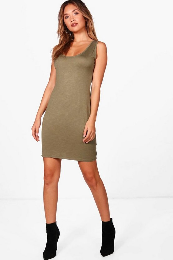 Dani Plunge Sleeveless Bodycon Dress