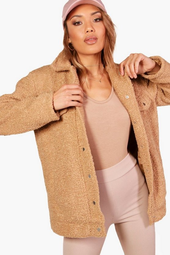 Melissa Oversized Teddy Faux Fur Trucker