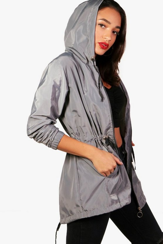 Karina Zip Through Hooded Rain Mac