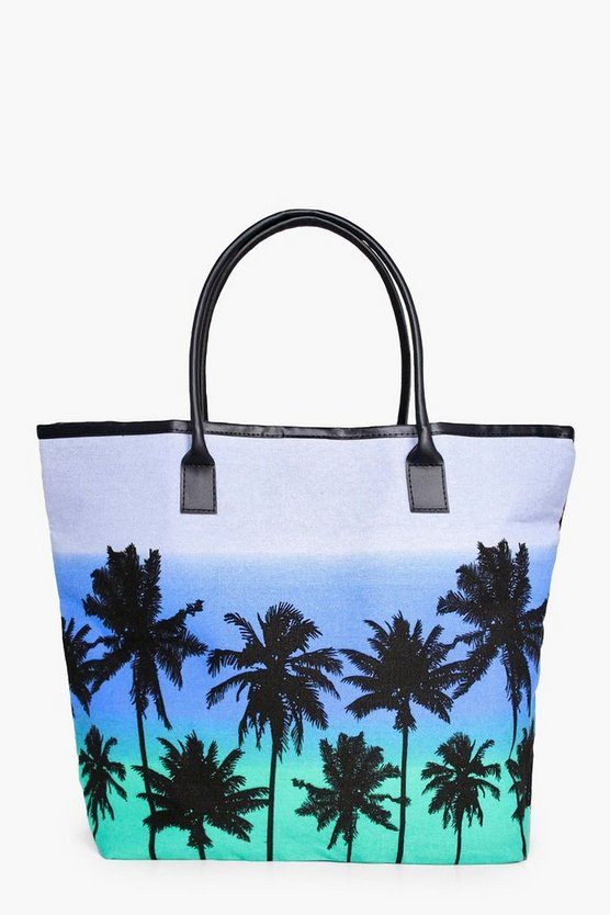 Lucy Palm Scene Beach Bag