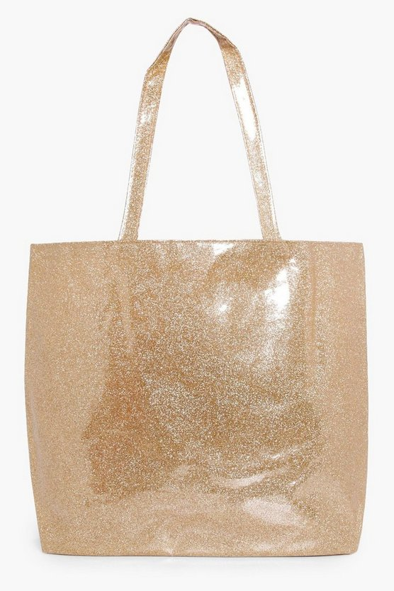 Maisie Jelly Glitter Beach Bag