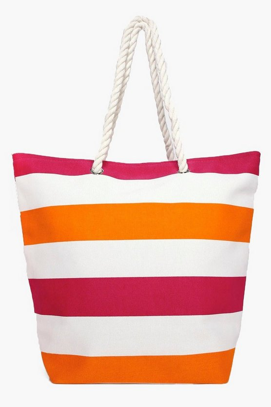 Holly Stripe Beach Bag