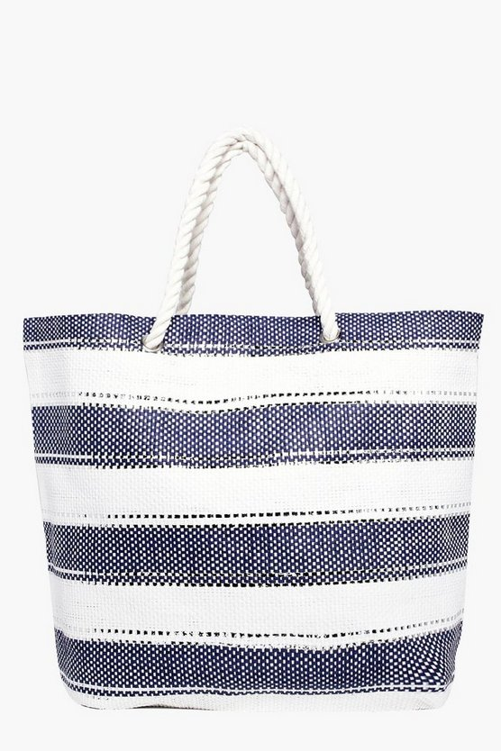 Isabella Lurex Striped Beach Bag