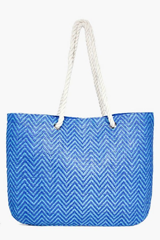 Esme Straw Weave Beach Bag