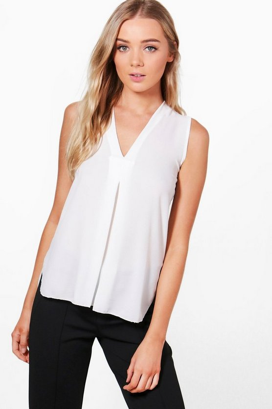 Georgina V-Neck Sleeveless Blouse