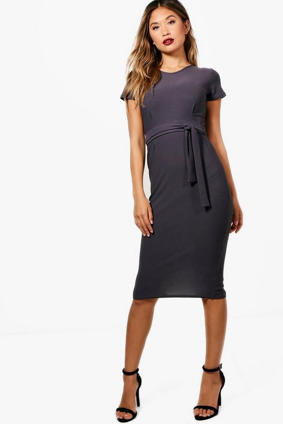 Kerry Tie Waist Fitted Dress