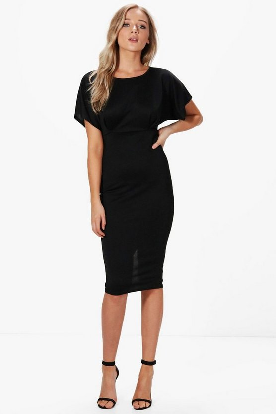Zoe Pleat Front Tailored Midi Dress