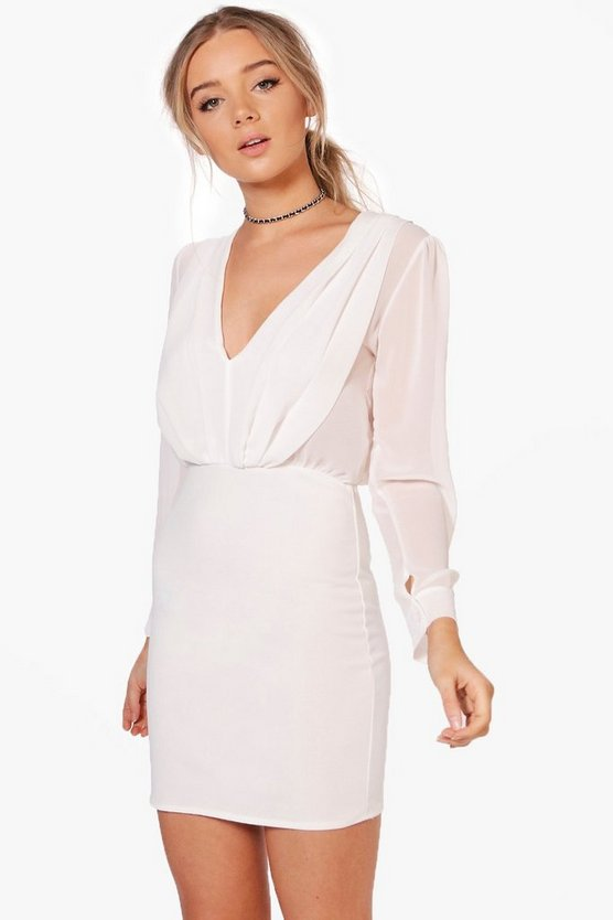 Joanna Chiffon and Crepe Tailored Dress