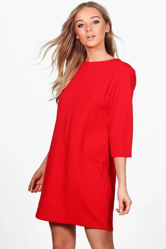 Grace Crepe Tailored Shift Dress