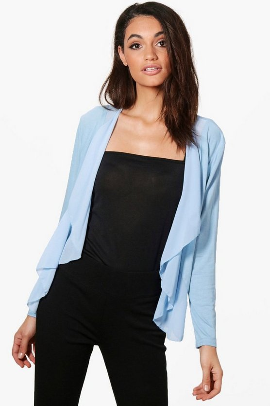 Alison Lightweight Waterfall Chiffon Jersey Jacket