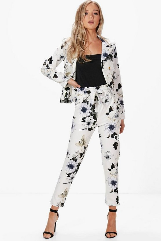 Olivia Premium Floral Tailored Woven Trouser