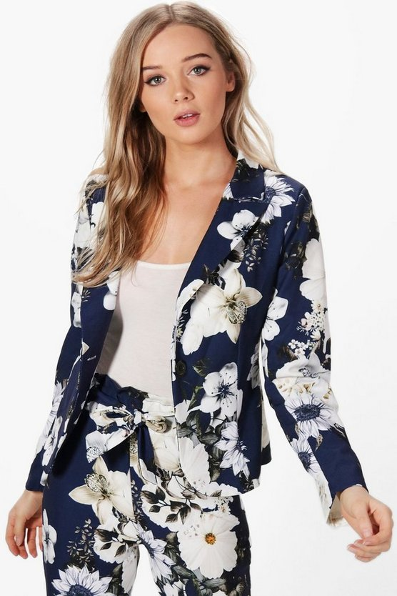 Olivia Premium Floral Woven Tailored Blazer