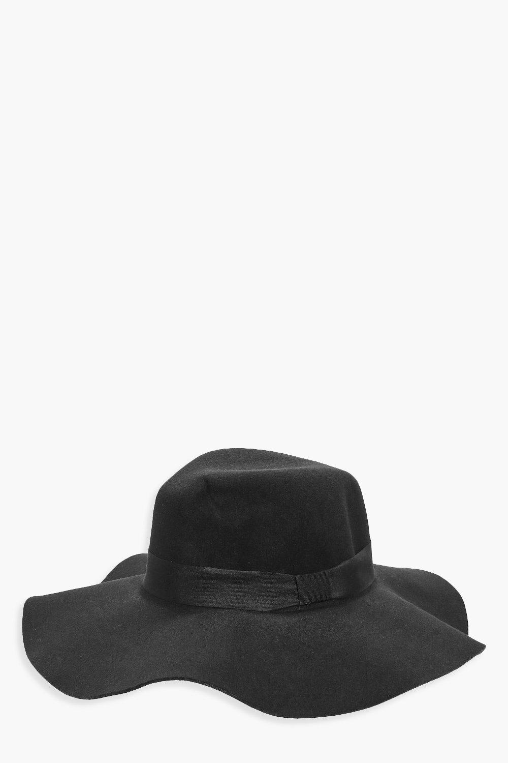 Felt Floppy Hat - black - Freya Felt Floppy Hat -