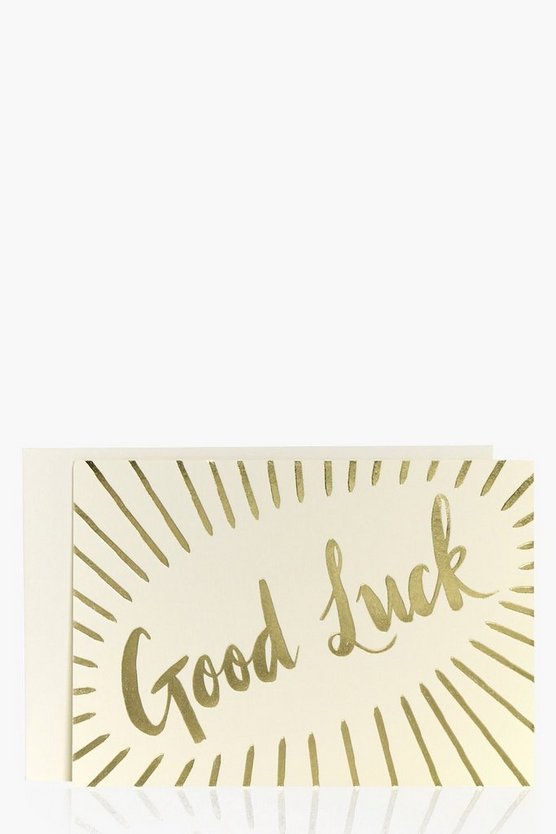 Foiled Metallic Good Luck Card