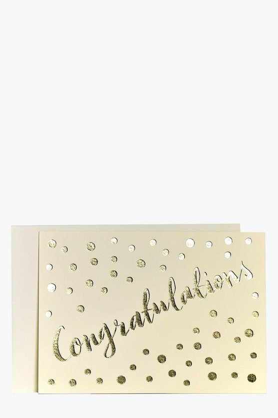 Foiled Metallic Congratulations Card