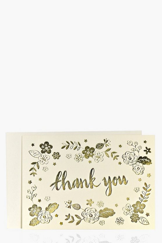 Foiled Metallic Thank You Card