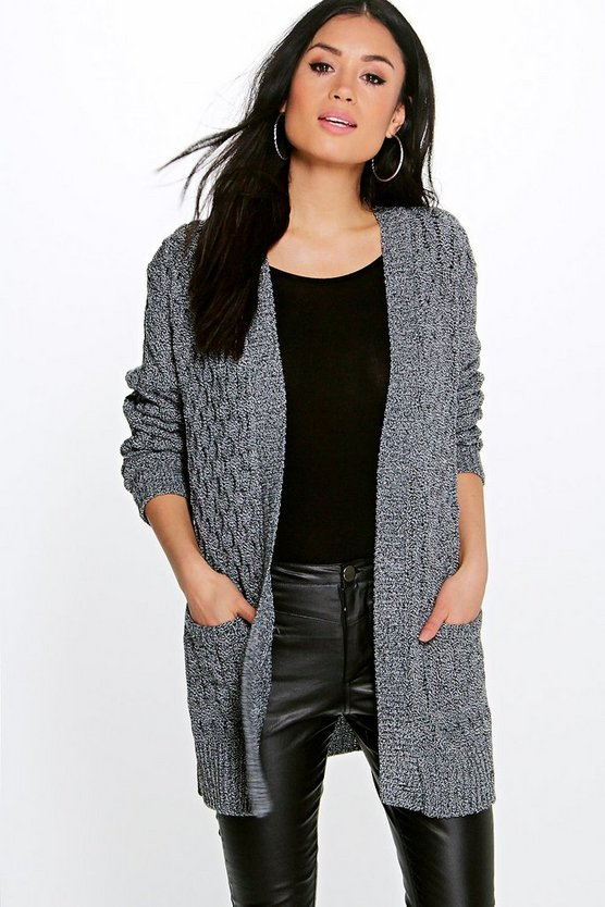Leah Cable Cardigan with Pockets