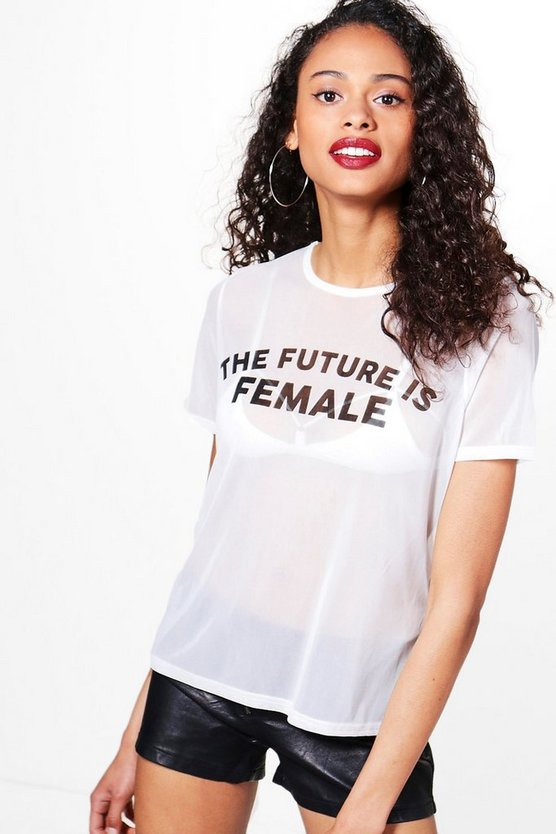 Daisy Future Is Female Slogan Tee