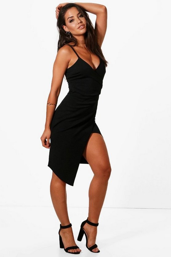 Inna Strappy Wrap Midi Dress