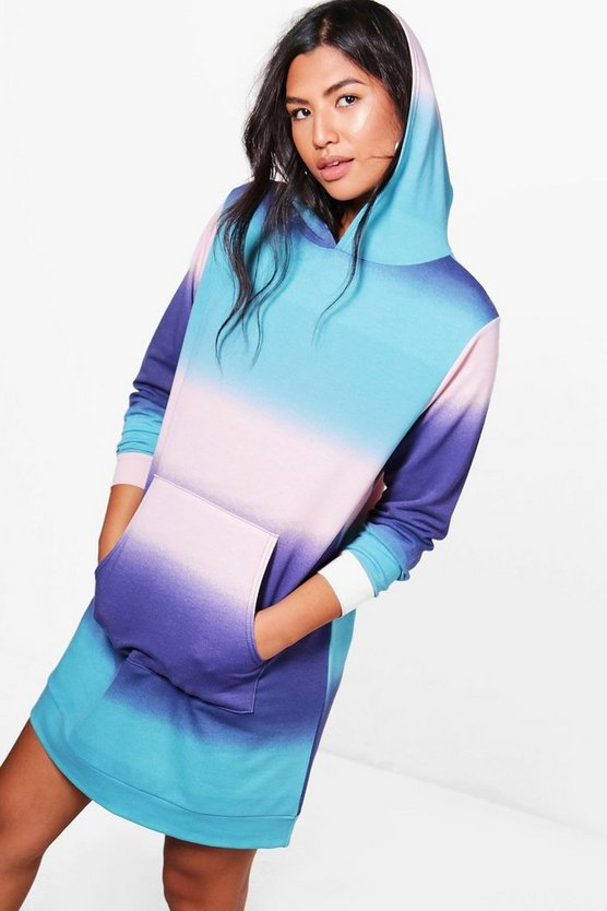 Tasha Tie Dye Hooded Sweat Dress