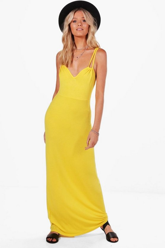 Sophia Cross Strap Maxi Dress