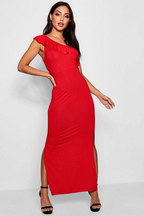 Molly One Shoulder Frill Maxi Dress