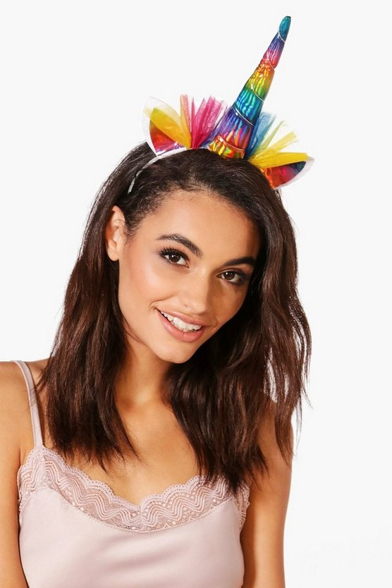 Clara Rainbow Unicorn Netted Headband