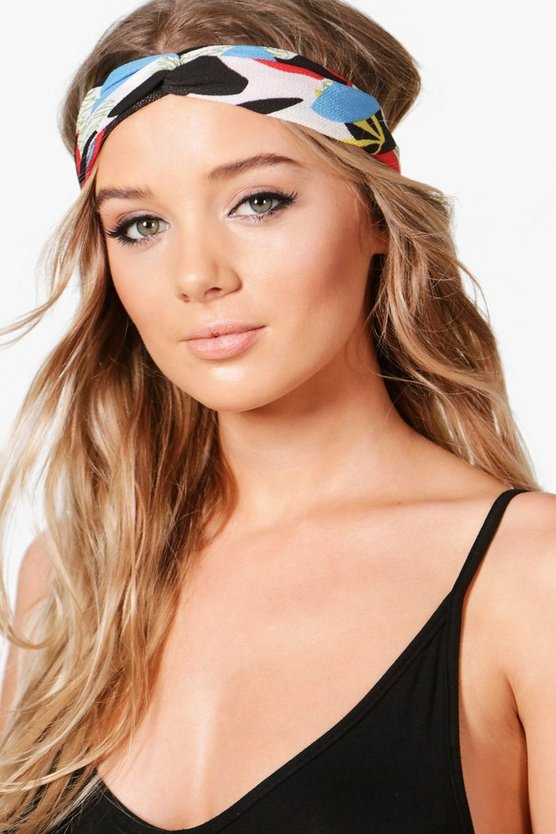 Ivy Abstract Print Knotted Turban Headband
