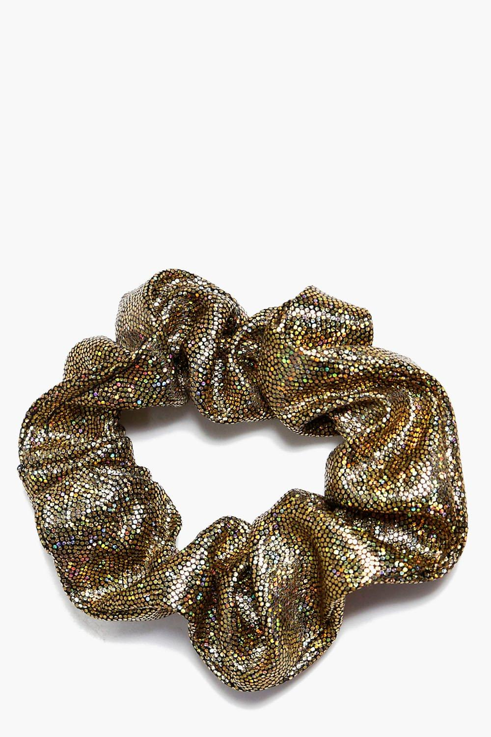 Spotty Metallic Scrunchie - gold - Jemima Spotty M