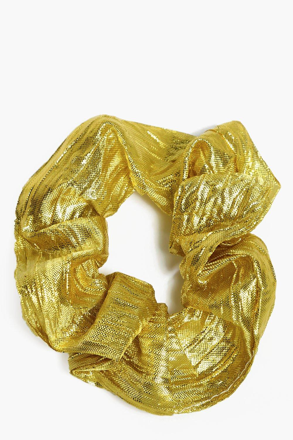 Pleated Metallic Scrunchie - gold - Felicity Pleat