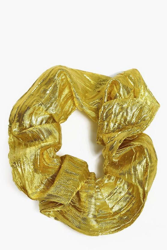 Felicity Pleated Metallic Scrunchie