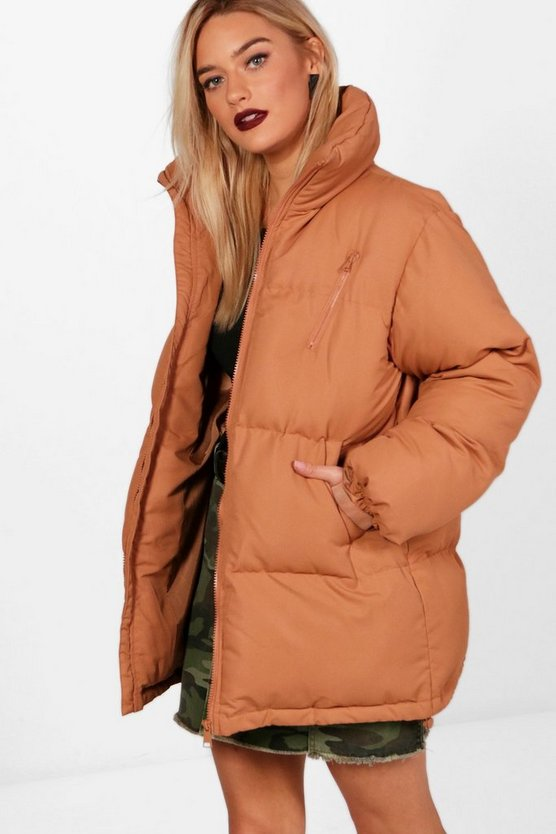 Amelie Funnel Neck Padded Coat