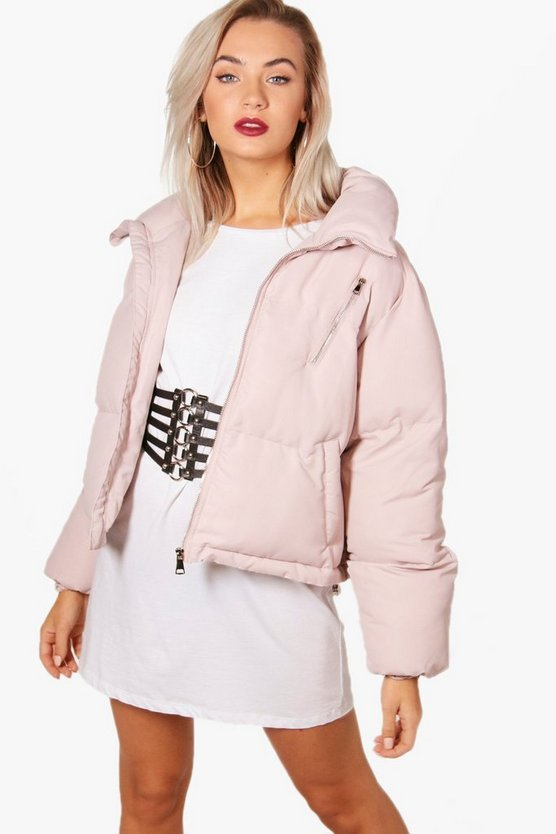 Rebecca Funnel Neck Padded Jacket