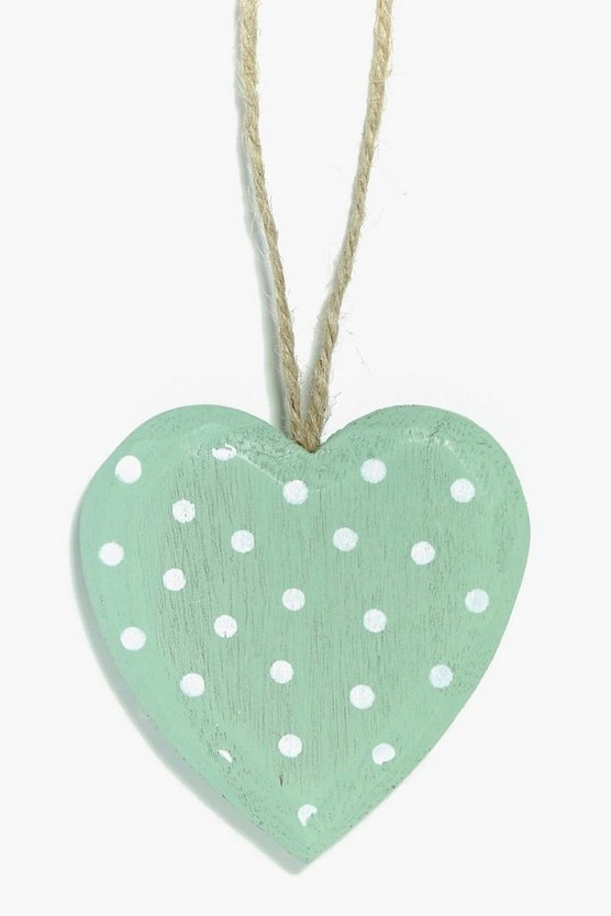 Polka Dot Hanging Heart