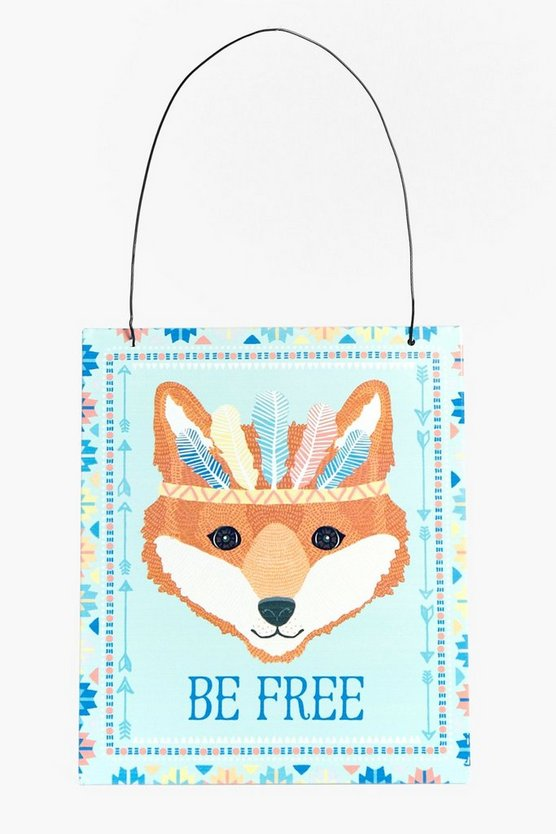 Be Free Fox Print Plaque