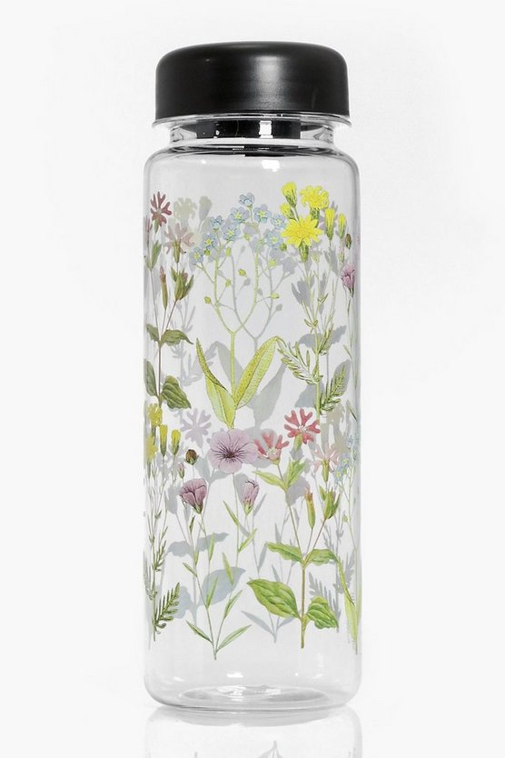 Wildflower Clear Water Bottle