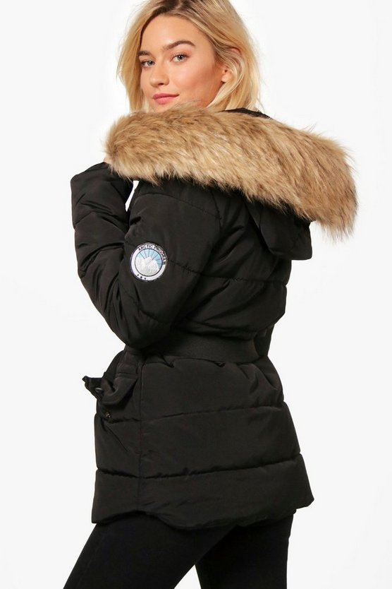 Corinne Belted Padded Coat